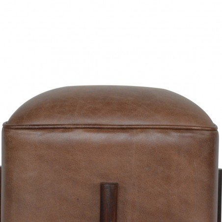 Orlando Leather Occasional Stool - Seat Detail