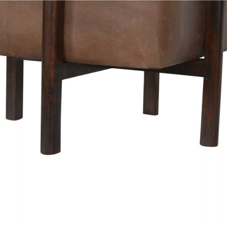 Orlando Leather Occasional Stool - Leg Detail