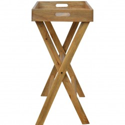 Tray Table with Foldable Legs - Side View