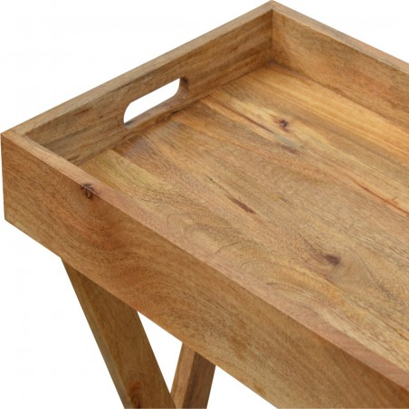 Tray Table with Foldable Legs -Tray Detail