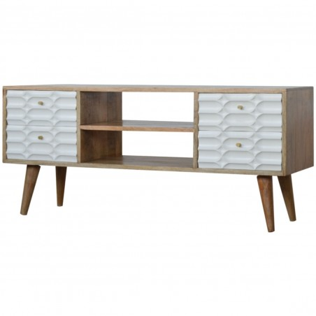 Berg Four Drawer Media Unit - Angled View