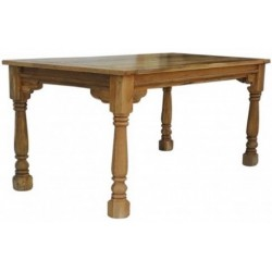 Gretta Dining Table with Turned Legs