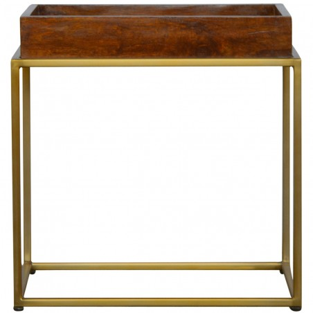 Chester Tray Table with Gold Base - Front View