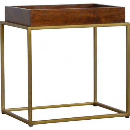 Chester Tray Table with Gold Base
