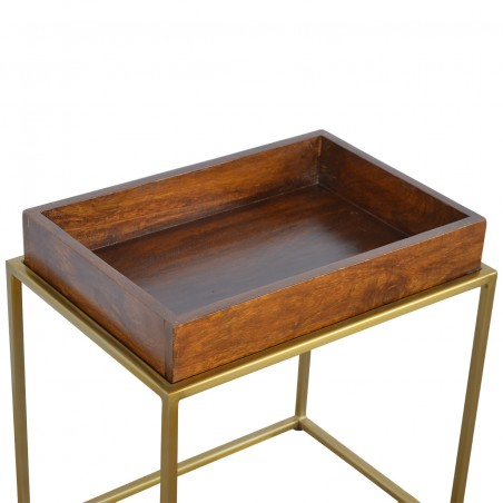Chester Tray Table with Gold Base - Tray  Detail