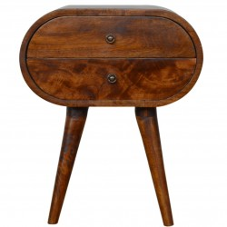 Chester Circular Bedside Unit - Front View