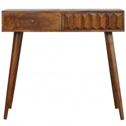 Prism Carved Front Console Table - Front View
