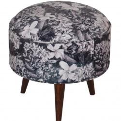 Heligan Floral Print Footstool