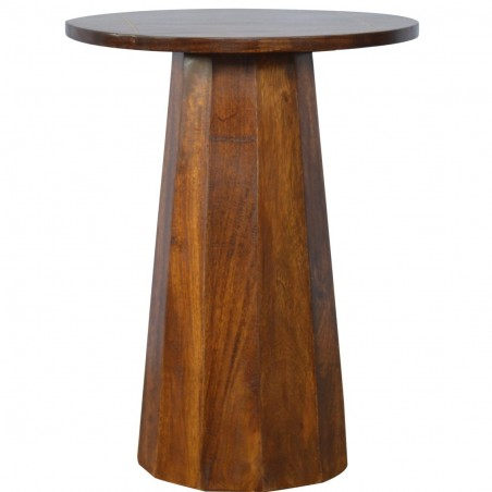 District Geometric Side Table - Front View
