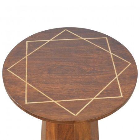 District Geometric Side Table - Top View
