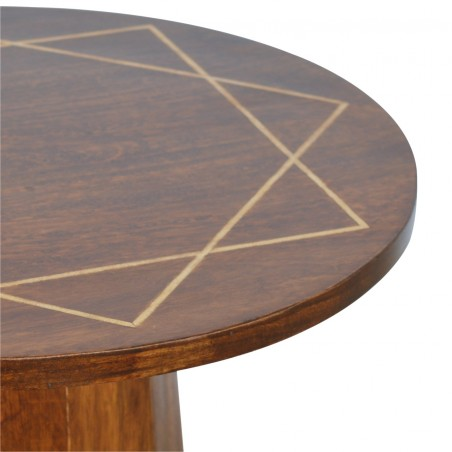 District Geometric Side Table - Pattern Detail