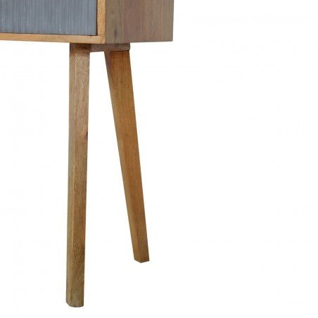 Moston Line Grey Painted Writing Desk - Leg Detail