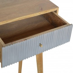 Moston Line Grey Painted Writing Desk - Open Drawer Detail