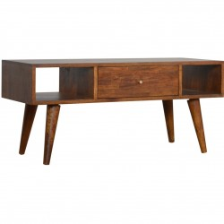 Chester Mixed Wood Coffee Table - Chestnut