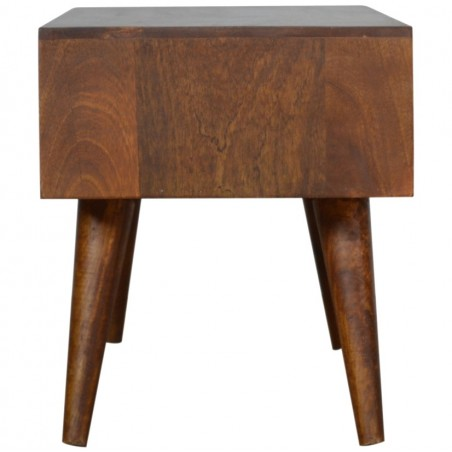 Chester Mixed Wood Coffee Table - Chestnut Side View