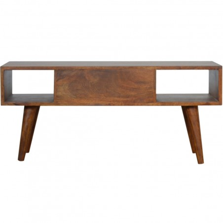 Chester Mixed Wood Coffee Table - Chestnut Rear View