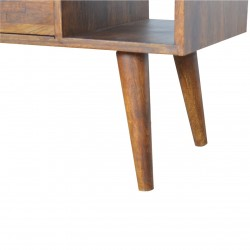 Chester Mixed Wood Coffee Table - Chestnut Leg Detail