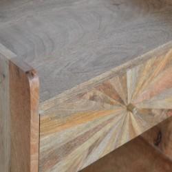 Sunrise Patterned Bedside Table - Pattern Detail