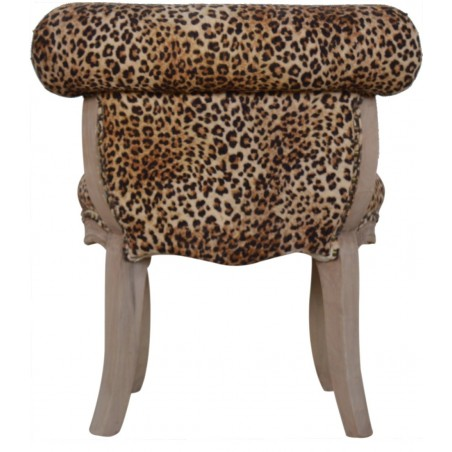 Brochere Leopard Print Studded Chair - Rear View