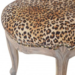 Brochere Leopard Print Studded Chair - Seat Detail