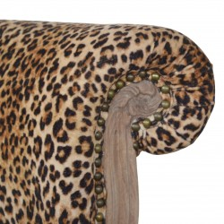 Brochere Leopard Print Studded Chair - Back Detail