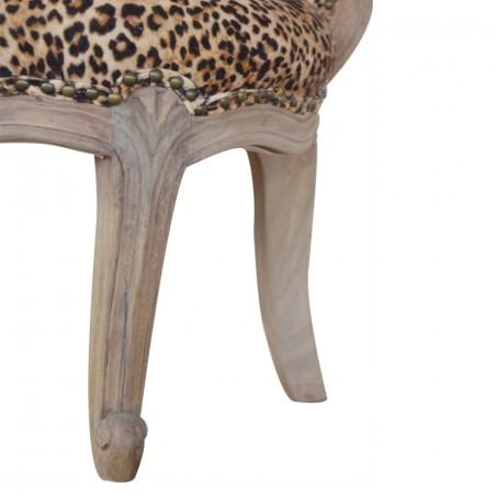 Brochere Leopard Print Studded Chair - Leg Detail