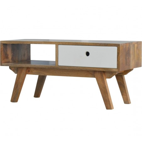 Two-Tone Hand Painted Media Unit