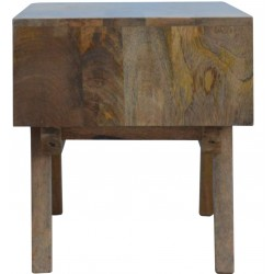 Two-Tone Hand Painted Media Unit - Side View