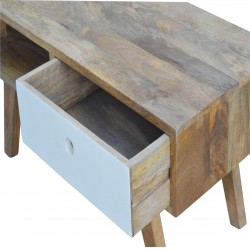 Two-Tone Hand Painted Media Unit - Drawer Detail