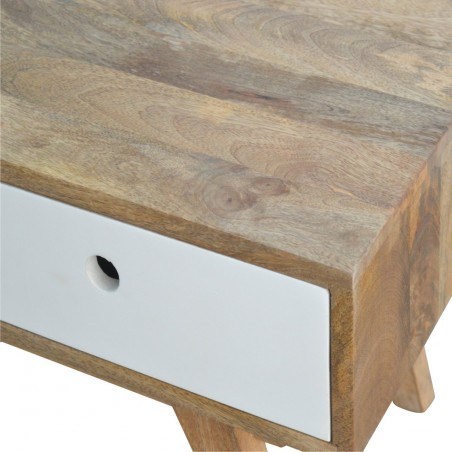 Two-Tone Hand Painted Media Unit - Top & Drawer Detail