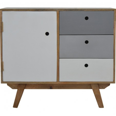 Two Tone Hand Painted Cabinet - Front View