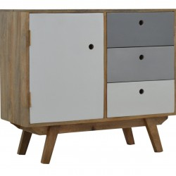 Two-Tone Hand Painted Cabinet