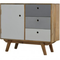 Two-Tone Hand Painted Cabinet - Angled View
