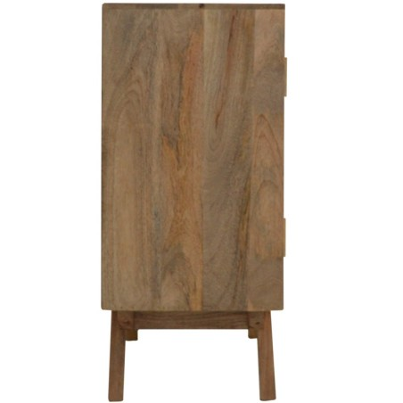 Two-Tone Hand Painted Cabinet - Side View