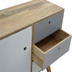 Two-Tone Hand Painted Cabinet - Drawer Open View