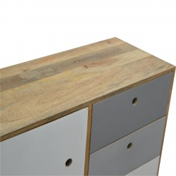 Two-Tone Hand Painted Cabinet - Top View