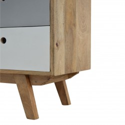 Two-Tone Hand Painted Cabinet - Leg View
