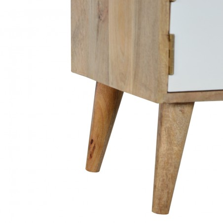 Grey and White Bedside Cabinet - Leg Detail