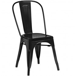 Tolix Style Side Chair - Black