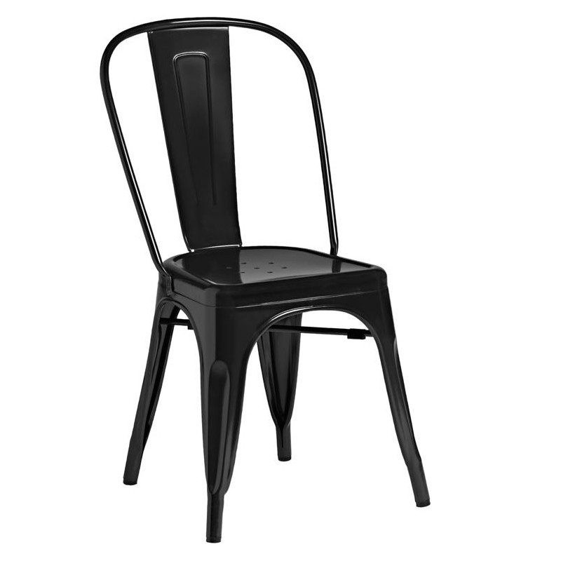 An image of Tolix Style Side Chair - Black