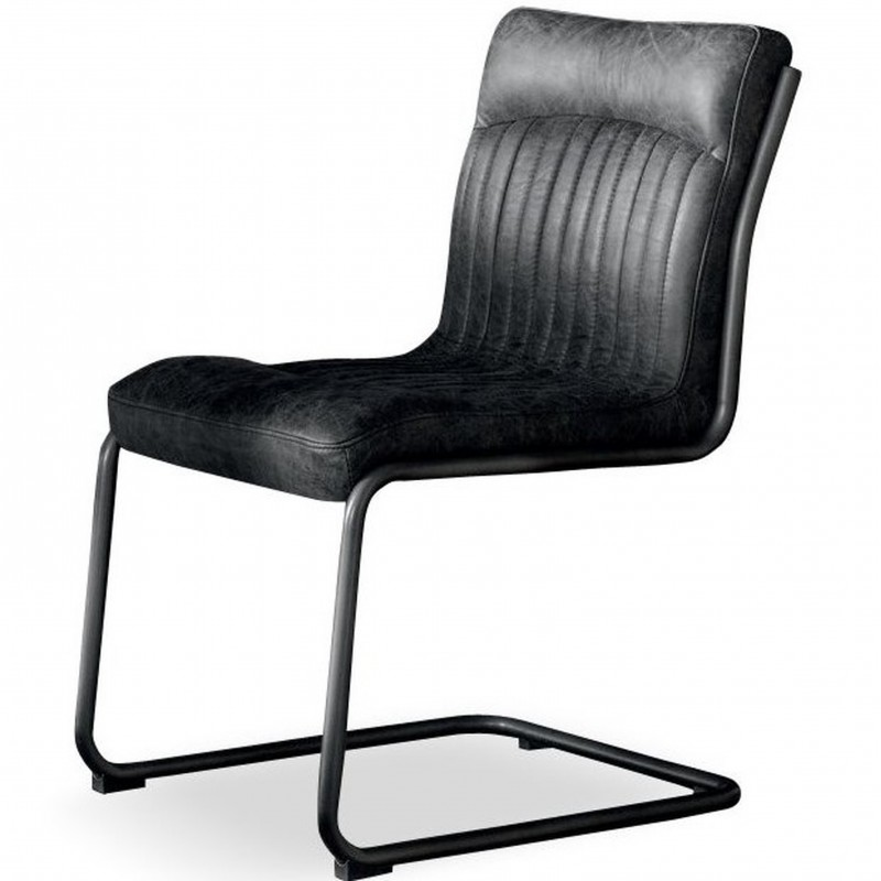 An image of Dublin Vintage Leather Dining Chair