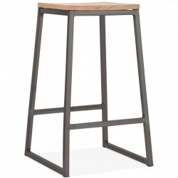 Copenhagen Metal Bar Stool 65 - Gunmetal/Nat