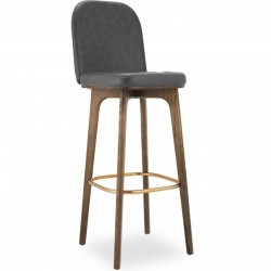 Paisley Faux Leather Bar Stool
