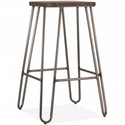 Jessie Square Metal Bar Stool 66 Gunmetal