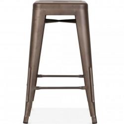 Tolix Style  Metal Bar Stools -65cm Rustic