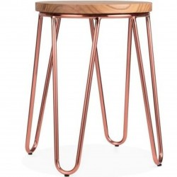 Jessie Metal Low Stool - Copper