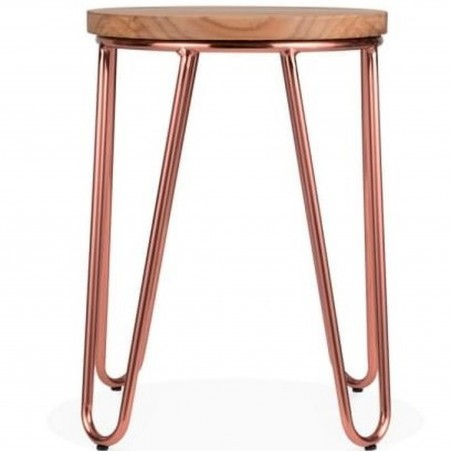 Jessie Metal Low Stool - Copper front View