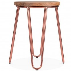 Jessie Metal Low Stool - Copper side View