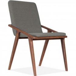 Viborg Wooden Upholstered Dining Chair Cool Grey