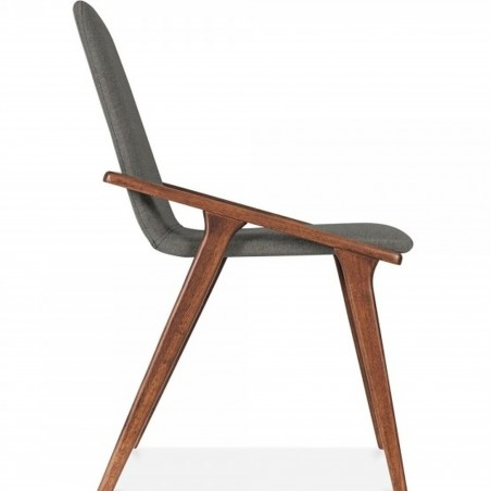 Viborg Wooden Upholstered Dining Chair Cool Grey Side View